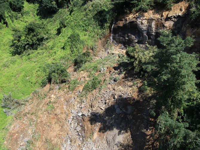 岩盤斜面の崩壊