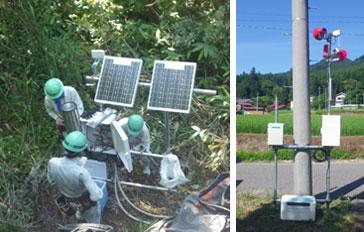 地すべり計測・監視システム観測・通信局設置状況